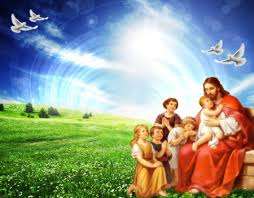 jesus with children collages abstract background wallpapers on