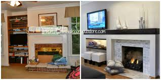 elegant fireplace makeover before and after with diy fireplace