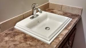 how to install an overmount bathroom sink youtube