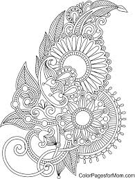 coloring pages henna art henna coloring pages awesome henna coloring pages online flowers