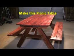 8 Ft Picnic Table Plans Free by How To Build A Picnic Table Youtube