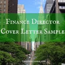 finance director cover letter sample cover letters