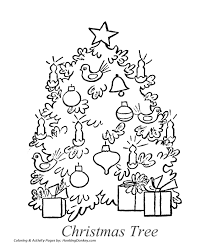 christmas tree coloring pages old fashioned christmas tree