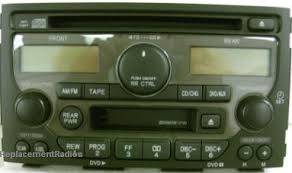 04 honda pilot radio code pilot 2003 2005 cd cassette dvd radio a200 1tv0