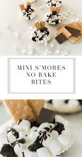 easy mini smores no bake bites lynzy u0026 co