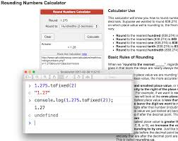 rounding integer numbers javascript reliable js rounding numbers with tofixed 2 of a 3