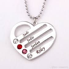 personalized heart pendant wholesale personalized heart pendant necklace 2016 personality