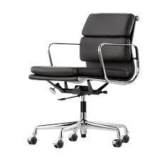 fauteuil de bureau charles eames vitra ea 217 pad eames alu chair bürostuhl leder nero