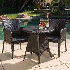 Wicker Bistro Table And Chairs Brayden Outdoor 3 Piece Wicker Bistro Set By Christopher Knight