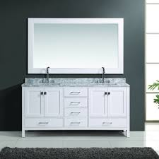 element 72 inch white finish sink vanity set with