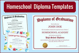 free home school homeschool diploma templates free for homeschoolers