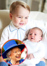 Queen Elizabeth Donald Trump Queen Elizabeth Poses With Prince George And Princess Charlotte In