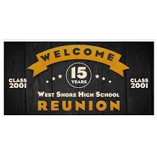 high school reunion banners welcome to high school class reunion custom party banner paper blast