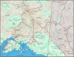Alaska On A Map by Alaska Maps Of Cities Towns And Highways