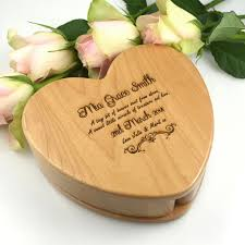 jewelry box favors engraved heart keepsake jewellery box gift for the to be