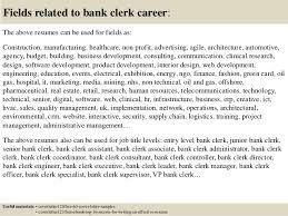 Clerical Job Resume by Job Application Letter Bank Clerk