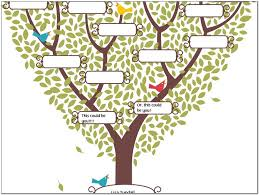 blank four generation family tree template pictures reference