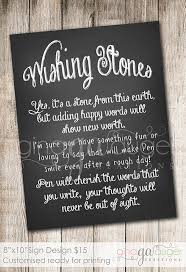 wishing rocks for wedding custom wishing stones printable sign auger creations