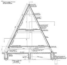 a frame house plans with loft free a frame cabin plans from usda ndsu univ of maryland a