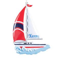 personalized sailboat ornament ornament kimball