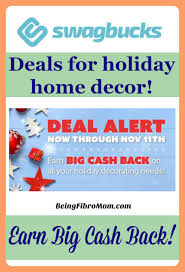 deals for holiday home decor using being fibro mom