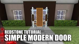 minecraft simple modern door youtube