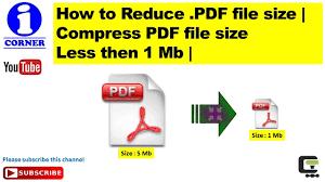 compress pdf below 2mb how to reduce pdf file size compress pdf file size less then 1 mb