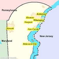 map of maryland delaware and new jersey mike s musings delaware s unique border