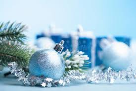 blue gifts and decoration stock image image 34515137