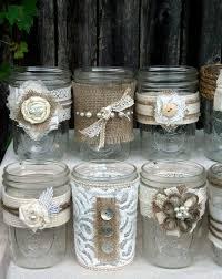 jar table decorations best 25 decorated jars ideas on wedding jars hessian