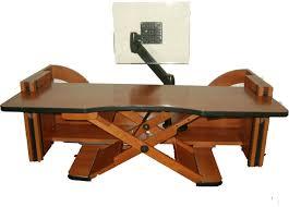 Adjustable Computer Stand For Desk Table Handsome Kangaroo Adjustable Height Desk Ergo Desktop