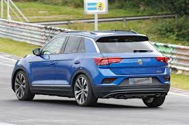 volkswagen t roc r 306bhp suv caught testing at the