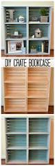 diy crate bookcase the one stop diy shop pinterest crate