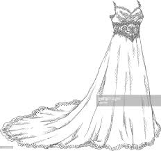 drawing wedding dresses wedding dress drawing vector getty images