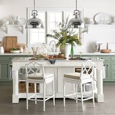 Kitchen Furniture Island Barrelson Kitchen Island With Marble Top Williams Sonoma