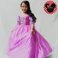 dress anak jual baju kostum princess rapunzel premium dress anak perempuan