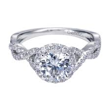engagement settings engagement rings twisted shank halo engagement ring beautiful