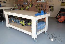 Plans For Making A Wooden Workbench by New Year New Workbench Baby Shanty 2 Chic