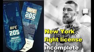 conor mcgregor ufc 205 new york fight license incomplete nick