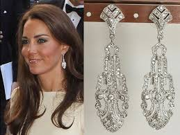 earrings kate middleton kate middleton cubic zirconia deco earrings e617 by tudorshoppe