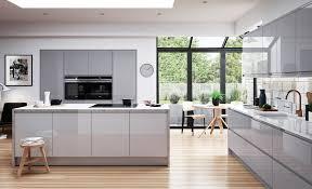 white and grey kitchen strada gloss light grey dust grey kitchen stori