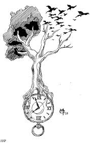 broken clock tattoo sketch photo 3 photo pictures and