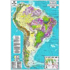 Map Of Brazil South America by Geological Map Of South America Ccgm Cgmw
