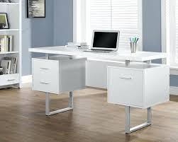 Glass Desk Office Glass Wood Computer Desk Eatsafe Co
