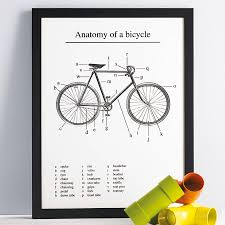 anatomy of a bicycle u0027 screen print by anthony oram