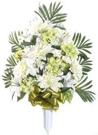 Graveside Flower Vases Cemetery Vases With Beautiful Artificial Flower Arrangements