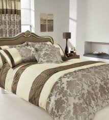apachi king size duvet cover bedding set brown cream amazon co