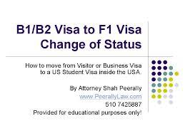 changing status from b1 b2 to f1 visa visitor visa to student