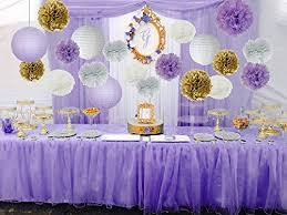 purple baby shower decorations bridal shower decorations 14pcs white purple gold
