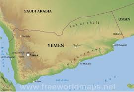 Physical Map Of The Middle East by Yemen Physical Map